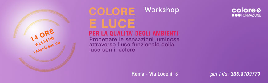 Workshop Colore e Luce